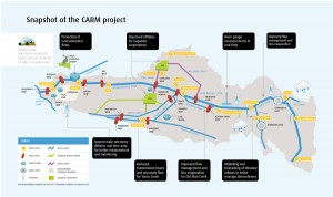 Schematic map of the CARM projects.