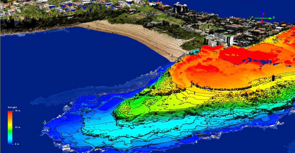 Freshwater Peninsula drone survey data (image courtesy UNSW WRL).